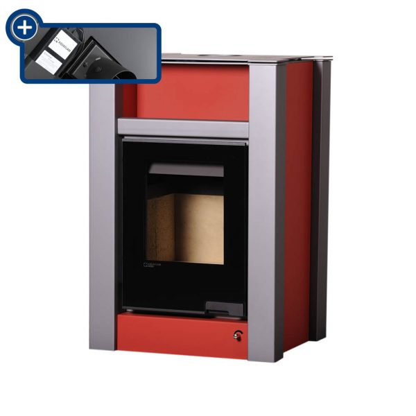 Krbová kamna AQUAFLAM VARIO ® LEND 11/5kW červená, elektronická regulace