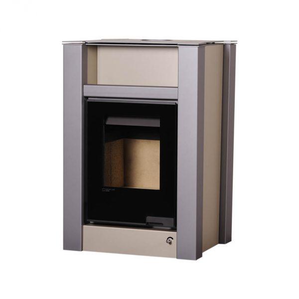 Krbová kamna AQUAFLAM VARIO ® LEND 11kW krémová - metalická (teplovzdušná verze)
