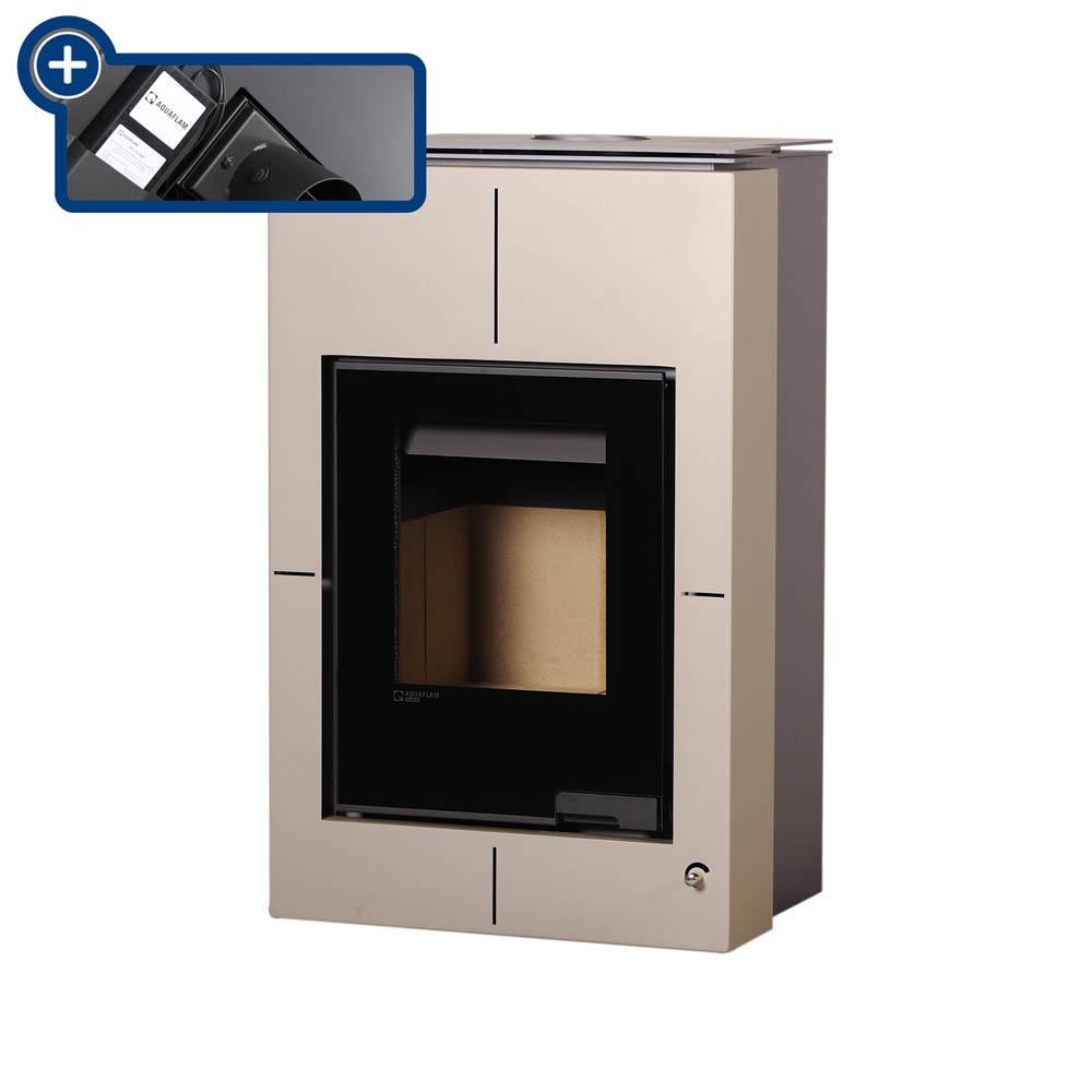 Krbová kamna AQUAFLAM VARIO ® SAPORO 11/7kW krémová - metalická, elektronická regulace