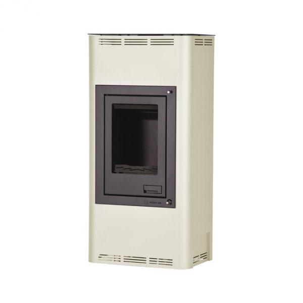 Krbová kamna AQUAFLAM ® 12 s výměníkem - krémová, manuální regulace