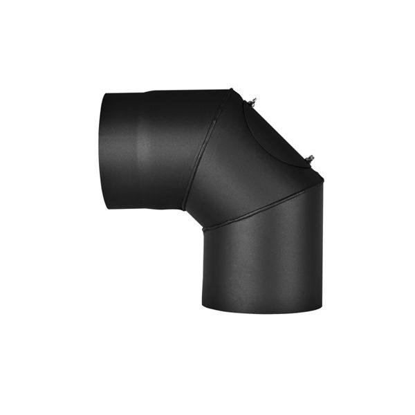 Koleno 90*/200mm/1,5mm s čistícím otvorem