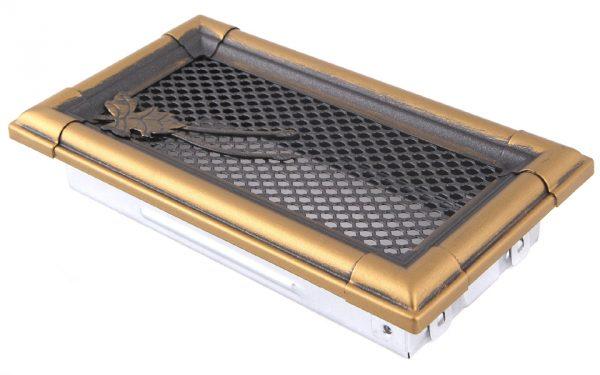 Krbová mřížka 10x20cm RETRO zlato - patina