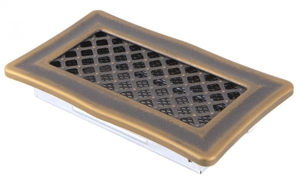 Krbová mřížka 10x20cm DECO zlato - patina