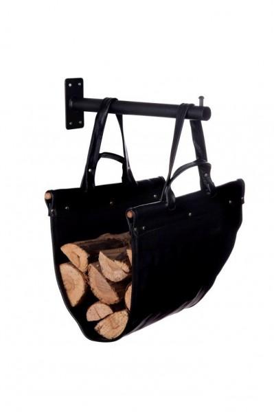Koš na dřevo kožený HSF 02 39011090