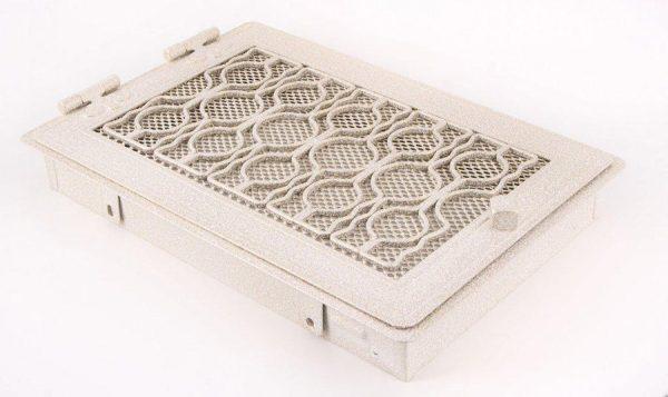 Krbová mřížka STYLOVÁ 21x32cm bílá - antik
