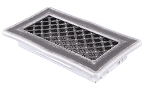 Krbová mřížka 10x20cm DECO stříbro - patina