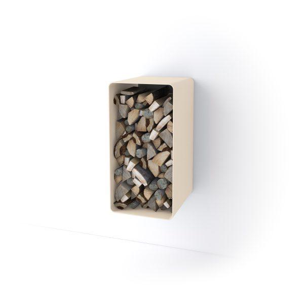 Stojan na dřevo FLAMINGO DELUXE ® 4, krémová