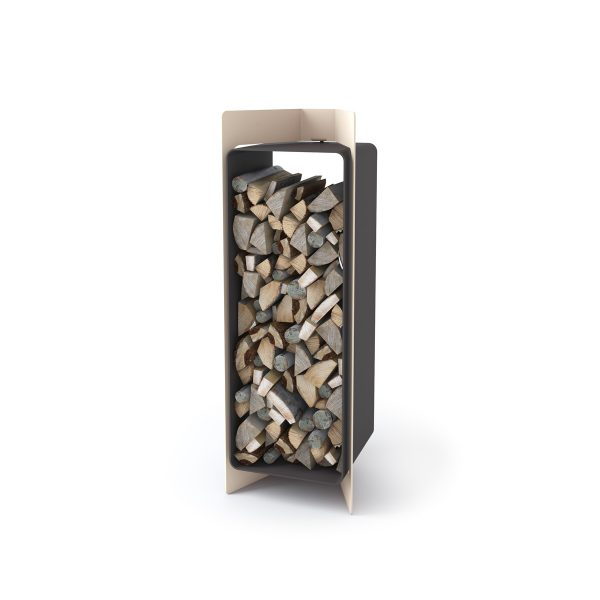 Stojan na dřevo FLAMINGO DELUXE ® 3, krémová