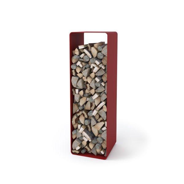 Stojan na dřevo FLAMINGO DELUXE ® 2, červená