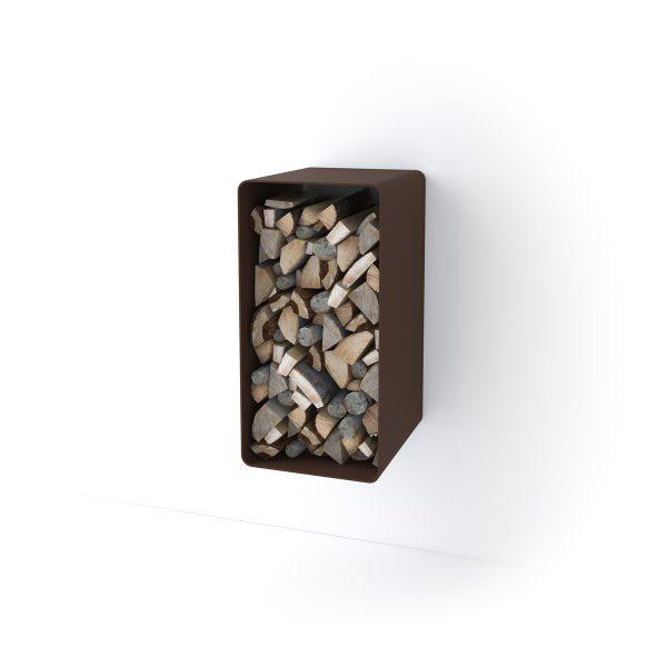 Stojan na dřevo FLAMINGO DELUXE ® 4, hnědá - sametová