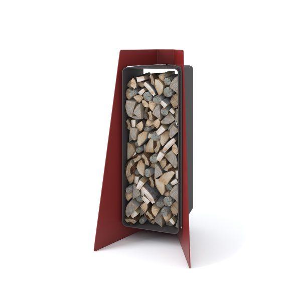 Stojan na dřevo FLAMINGO DELUXE ® 1, červená