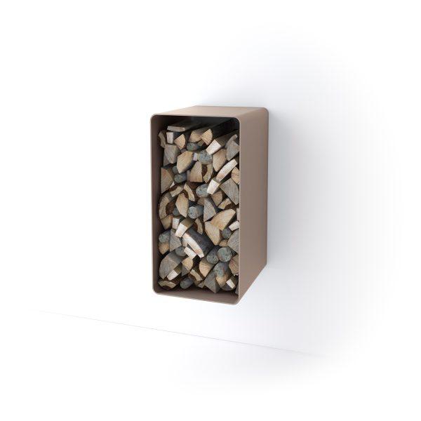 Stojan na dřevo FLAMINGO DELUXE ® 4, krémová - metalická