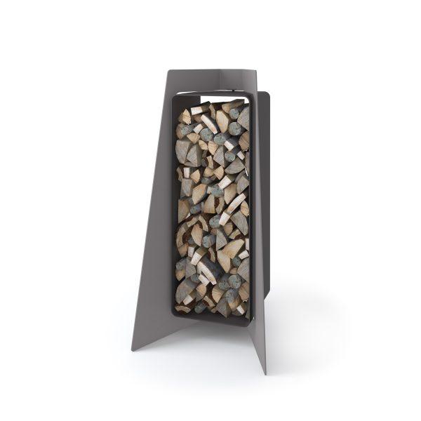 Stojan na dřevo FLAMINGO DELUXE ® 1, šedá