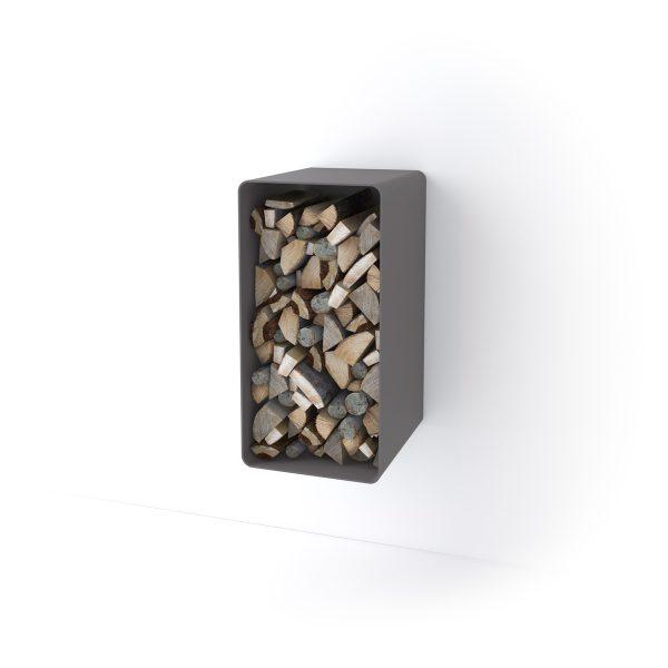 Stojan na dřevo FLAMINGO DELUXE ® 4, šedá