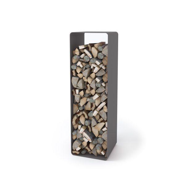 Stojan na dřevo FLAMINGO DELUXE ® 2, šedá
