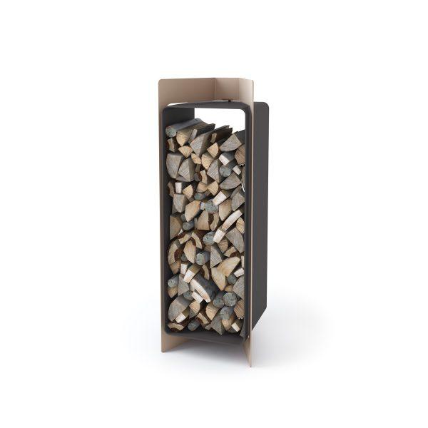 Stojan na dřevo FLAMINGO DELUXE ® 3, krémová - metalická