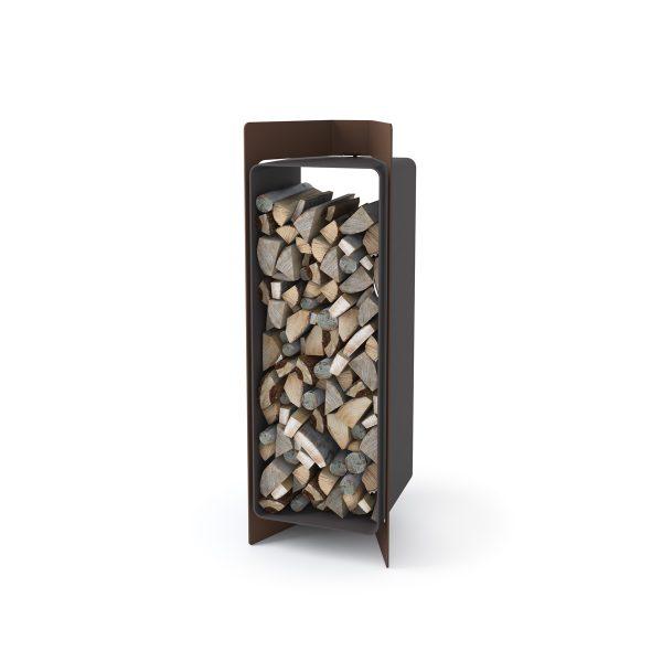 Stojan na dřevo FLAMINGO DELUXE ® 3, hnědá - sametová