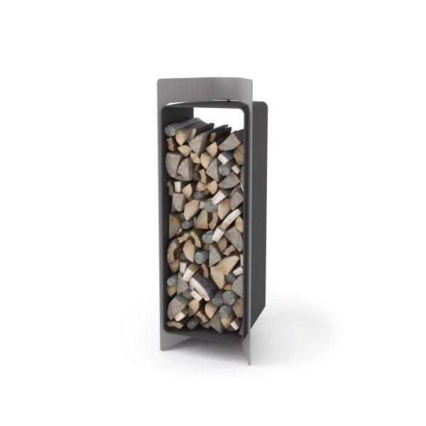 Stojan na dřevo FLAMINGO DELUXE ® 3, šedá