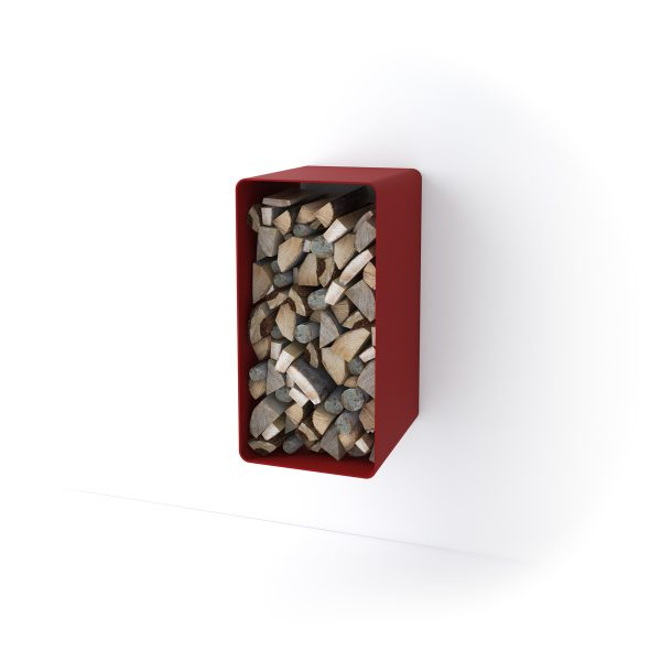 Stojan na dřevo FLAMINGO DELUXE ® 4, červená