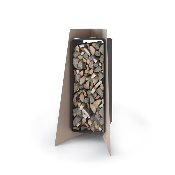 Stojan na dřevo FLAMINGO DELUXE ® 1, krémová - metalická
