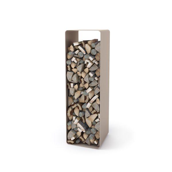 Stojan na dřevo FLAMINGO DELUXE ® 2, krémová - metalická