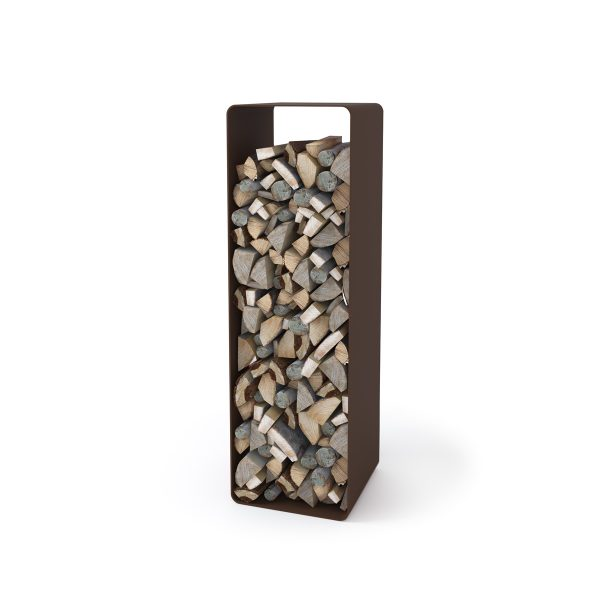 Stojan na dřevo FLAMINGO DELUXE ® 2, hnědá - sametová