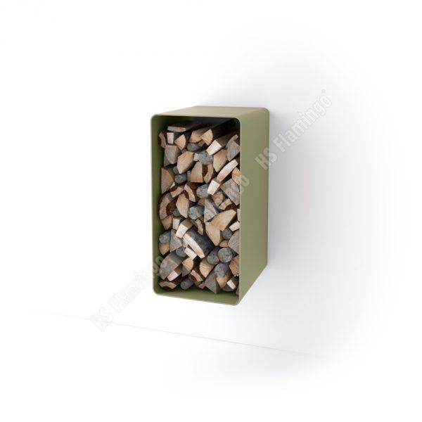 Stojan na dřevo FLAMINGO DELUXE ® 1, olivová (Malia)