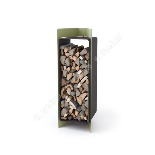 Stojan na dřevo FLAMINGO DELUXE ® 4, olivová (Pulau)